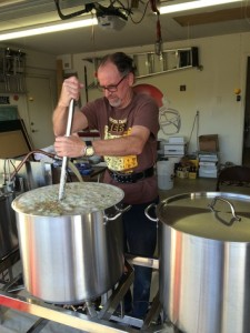 Mac hard at work in the brewery mashing in  SmackDown.
